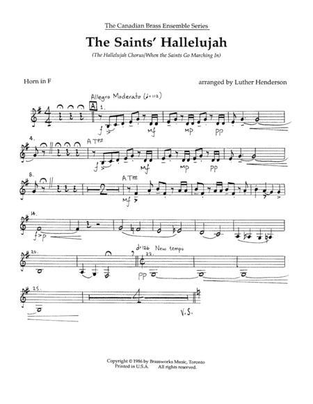 The Saints' Hallelujah - Horn in F