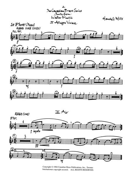 Suite from Water Music - Bb Piccolo Trumpet