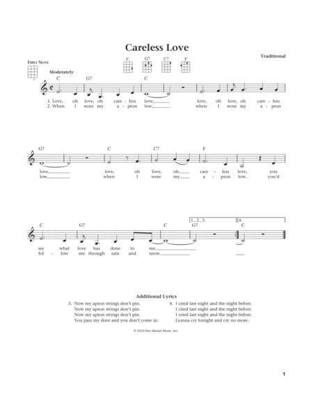 Careless Love (from The Daily Ukulele) (arr. Liz and Jim Beloff)