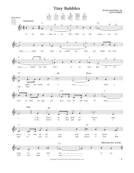 Tiny Bubbles (from The Daily Ukulele) (arr. Liz and Jim Beloff)
