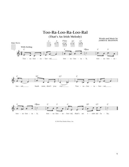 Too-Ra-Loo-Ra-Loo-Ral (That's An Irish Lullaby) (from The Daily Ukulele) (arr. Liz and Jim Beloff)