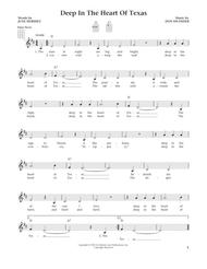 Deep In The Heart Of Texas (from The Daily Ukulele) (arr. Liz and Jim Beloff)