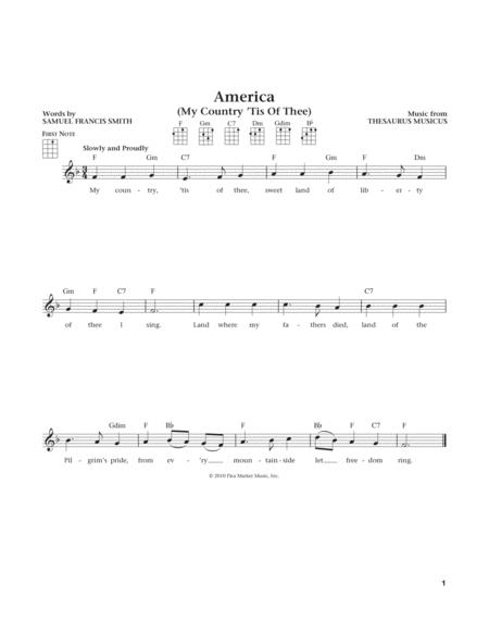 My Country, 'Tis Of Thee (America) (from The Daily Ukulele) (arr. Liz and Jim Beloff)