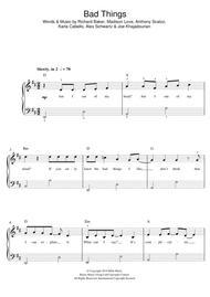 bad things sheet music