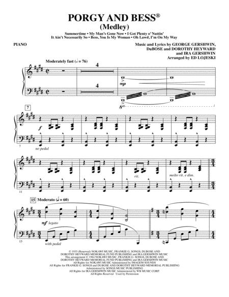 Porgy and Bess (Medley) - Piano
