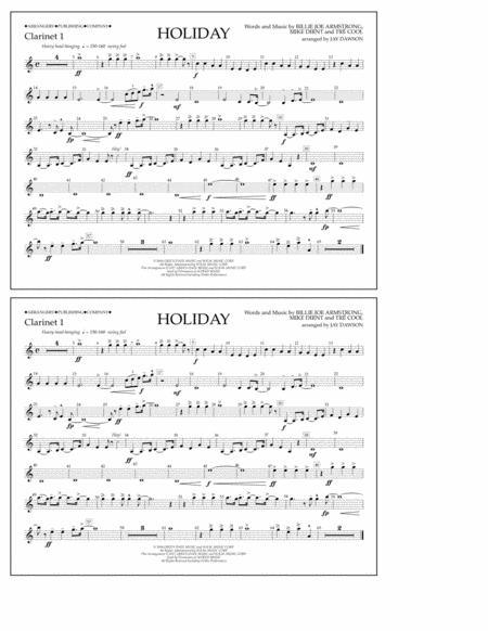 Holiday - Bb Clarinet 1
