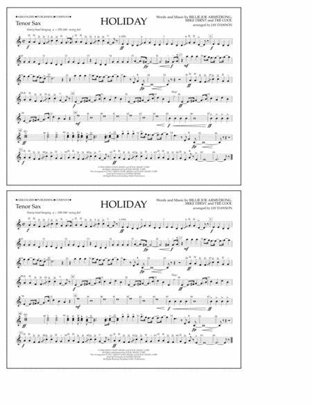 Holiday - Bb Tenor Sax