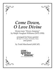 Come Down, O Love Divine - brass quintet and piano