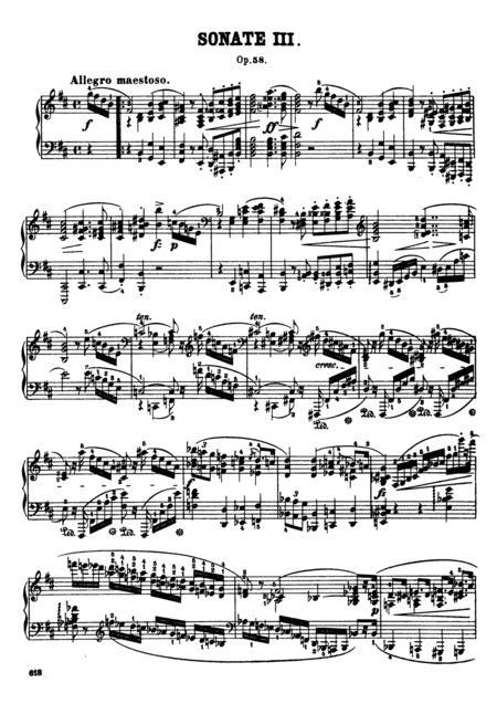 F.Chopin-Piano Sonata No.3 in B minor, Op.58