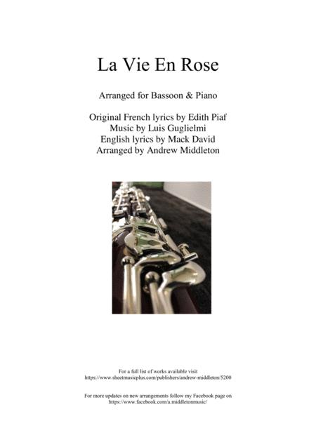 La Vie En Rose for Bassoon and Piano