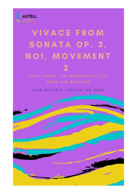 VIVACE FROM SONATA OP. 3, NO1, MOVEMENT 2