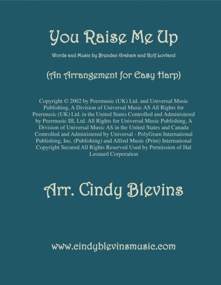 You Raise Me Up, arranged for Easy Harp