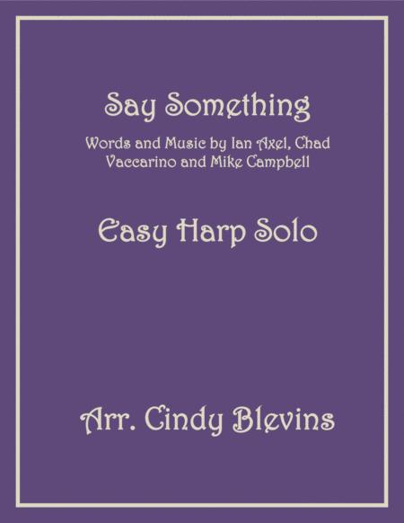 Say Something, arranged for Easy Harp