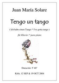 Tengo un Tango [piano solo]