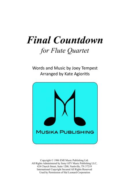 Final Countdown - for Flute Quartet