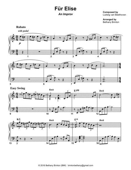 Für Elise - A Jazz Improv