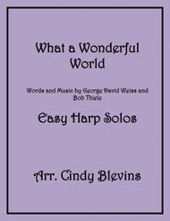 What A Wonderful World, arranged for Easy Harp