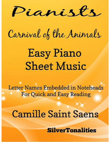 Pianists Carnival of the Animals Easy Piano Sheet Music
