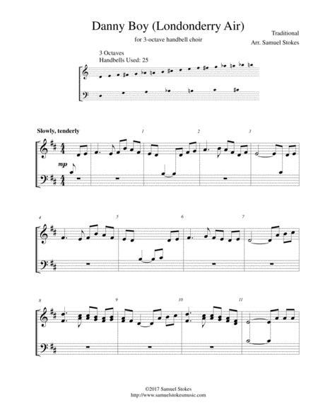 Danny Boy (Londonderry Air) - for 3-octave handbell choir