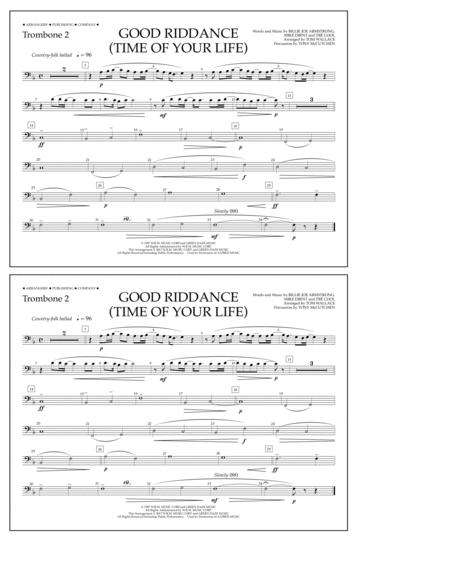 Good Riddance (Time of Your Life) - Trombone 2