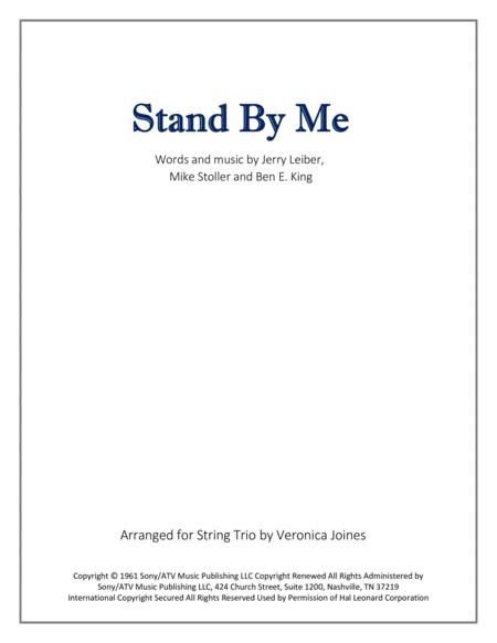 Stand By Me for String Trio (with optional Violin 2 part)