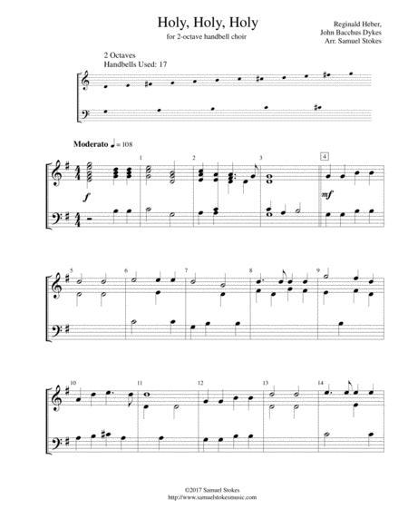 Holy, Holy, Holy - for 2-octave handbell choir