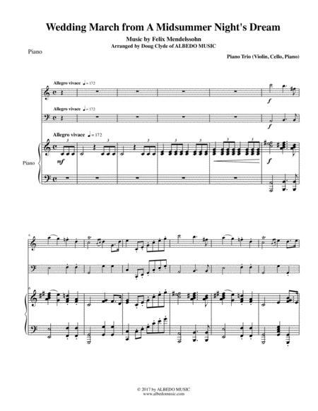 Mendelssohn Wedding March from A Midsummer Night's Dream for Piano Trio