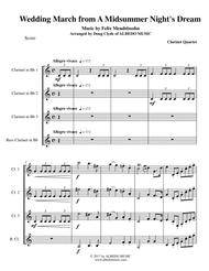 Mendelssohn Wedding March from A Midsummer Night's Dream for Clarinet Quartet