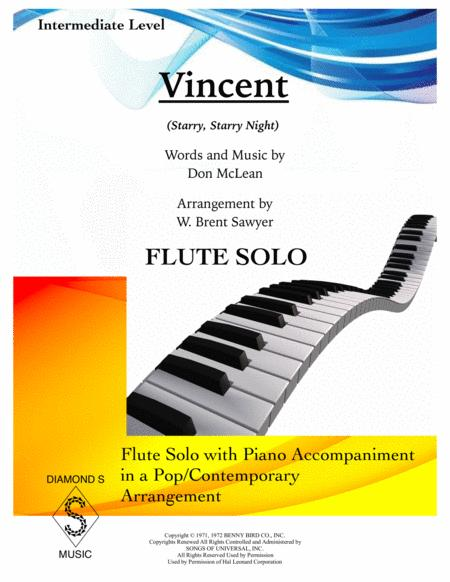 Vincent (Starry Starry Night) - FLUTE SOLO with PIANO