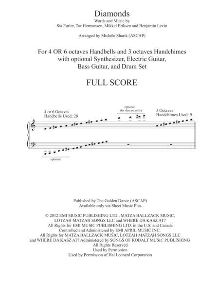 Diamonds - 4 or 6 oct Handbells, 3 oct Chimes, with optional rhythm section - FULL SCORE