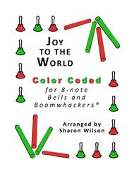 Joy to the World for 8-note Bells and Boomwhackers® (with Color Coded Notes)