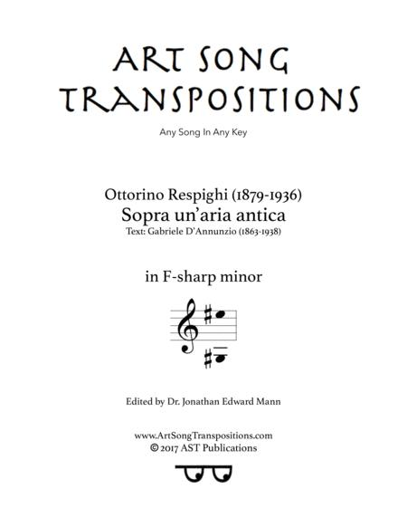 Sopra un'aria antica (F-sharp minor)