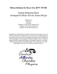 Fifteen Sinfonias for Brass Trio, BWV 787-801