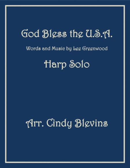 God Bless The U.S.A., arranged for Lever or Pedal Harp