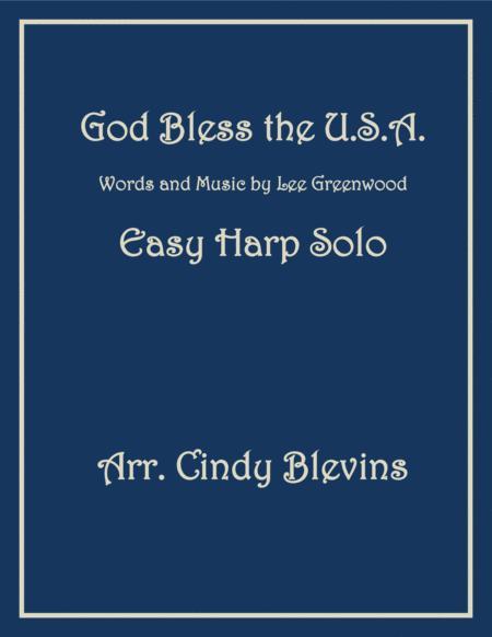 God Bless The U.S.A., arranged for Easy Harp