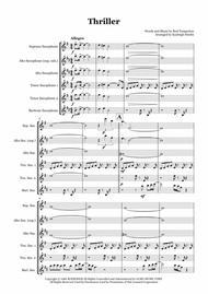 Thriller - Saxophone quintet (SATTB/AATTB)