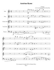 woodwind quintet wedding music - Austrian Hymn