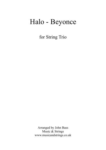 Download Halo By Beyonce Arranged For String Trio Violin Viola