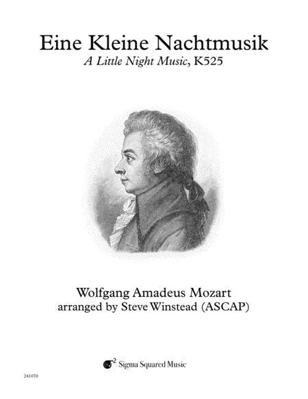 Eine Kleine Nachtmusik, K525 for Clarinet Quartet/Choir