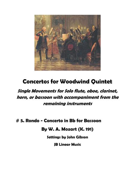 Rondo from Concerto in Bb for bassoon with woodwind quintet