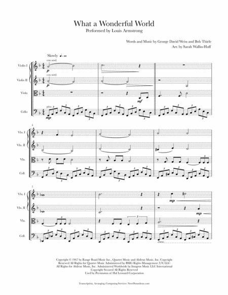 What A Wonderful World (String Quartet)