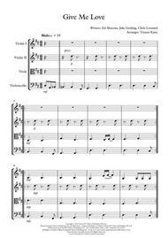 Give Me Love - String Quartet