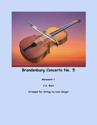 Brandenburg Concerto No. 5, movement 1 (string duo)