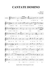 CANTATE DOMINO - Giovanni Croce - Part for TENOR