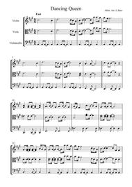 Dancing Queen by ABBA arranged for String Trio (Violin, Viola and 'Cello)