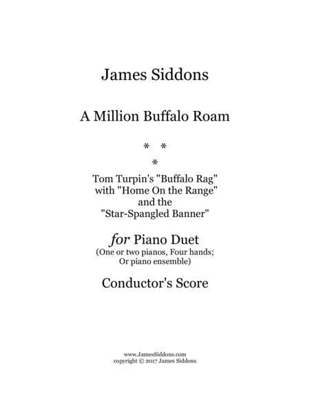 A Million Buffalo Roam (Conductor's Score for Piano Ensemble)