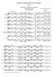 Vivaldi - Violin Concerto No.5 in A major RV 519 Op.3 for Two Violins, Strings and Cembalo