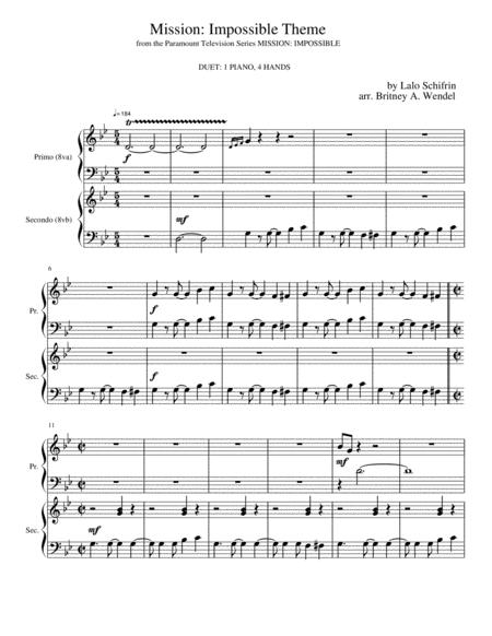 Mission: Impossible Theme (Piano Duet with Body Percussion)