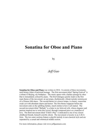 Sonatina for Oboe & Piano