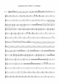 Beethoven symphony No.5 - 3,4rd Movement (Transposed Horn in C)